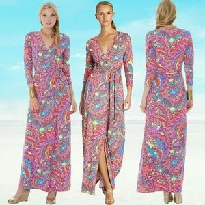 Lilly Pulitzer Feeling Groovy Maxi Wrap Dress